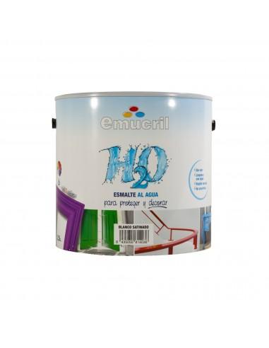 Esmalte Blanco Emucril H20 Brillante al Agua