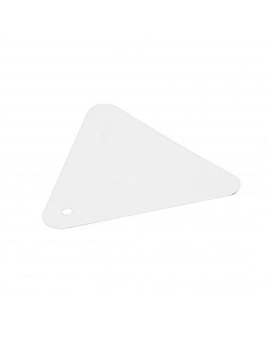 Espátula Triangular Plástico Flexible Rulo Pluma