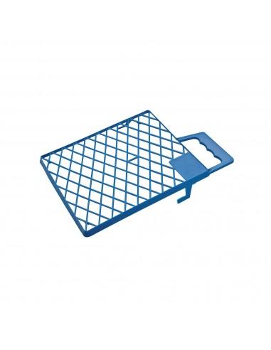 Rejilla Plástico Azul con Asa Rulo Pluma