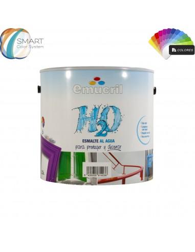 Emucril Esmalte Agua H20 Brillante Carta Emucril Decoración